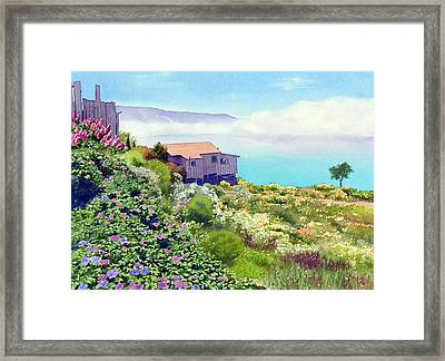 Big Sur Cottage Framed Print by Mary Helmreich