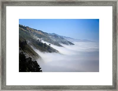 Big Sur Fog Framed Print by Mathew Lodge