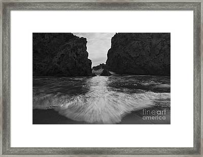 Big Sur Seascape Framed Print by Keith Kapple