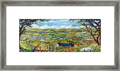 Big Valley By Prankearts Framed Print by Richard T Pranke