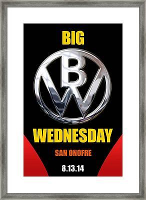 Big Wednesday 2014 Poster Framed Print by Ron Regalado