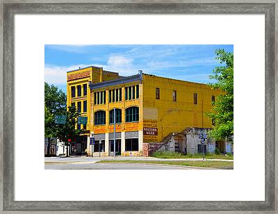 Big Yellow Buildings Framed Print by David Lee Thompson