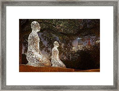 Bigger Than The Sum Of Our Parts - Tolerance Sculptures Downtown Houston Texas Framed Print by Silvio Ligutti