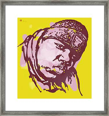 Biggie Smalls Modern Colour Etching Art  Poster Framed Print by Kim Wang