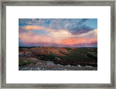 Bighorn Basin Sunset Framed Print by Leland D Howard