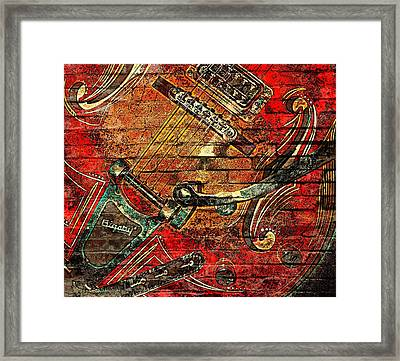 Bigsby Faux Mural Framed Print by Chris Berry