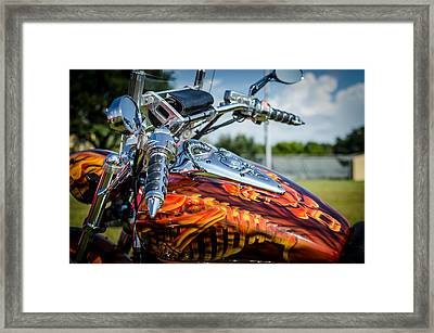 Bike Art Framed Print by David Morefield