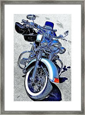 Bike In Blue For Two Framed Print by Ben and Raisa Gertsberg