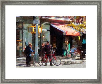 Bike Lane Framed Print by Susan Savad