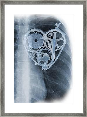 bike lover X-ray Framed Print by Sassan Filsoof