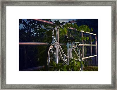 Bike Noir Framed Print by Laura Fasulo