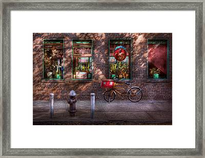 Bike - Ny - Chelsea - The Delivery Bike Framed Print by Mike Savad