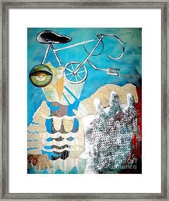 Bike Owl Framed Print by Amy Sorrell