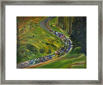 Bike Race Belgium Arden Spring Classics Framed Print by Gregory Allen Page