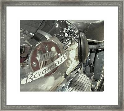 Bike Reflection Framed Print by Jeff Taylor