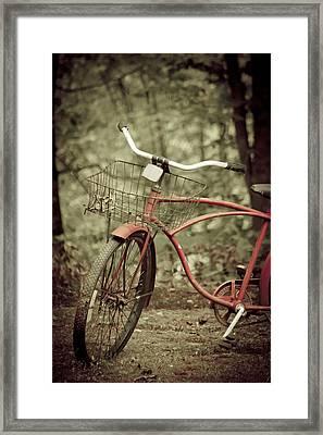 Bike Framed Print by Shane Holsclaw