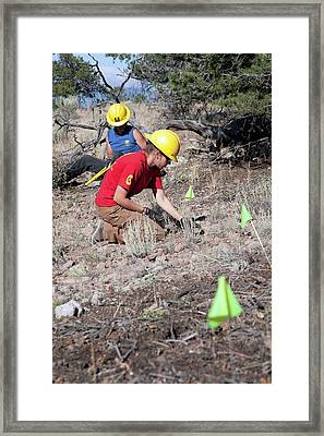 Bike Trail Construction Youth Project Framed Print by Jim West