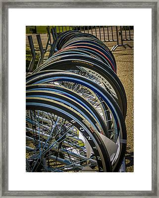 Bike Wheels Framed Print by Jon Stephenson