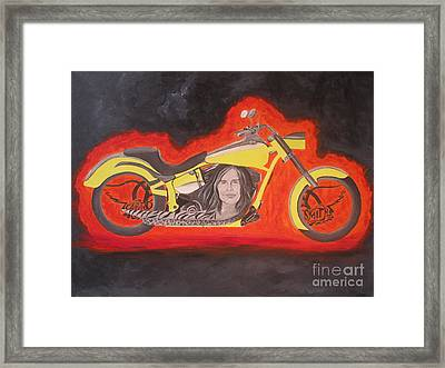 Biker Framed Print by Jeepee Aero