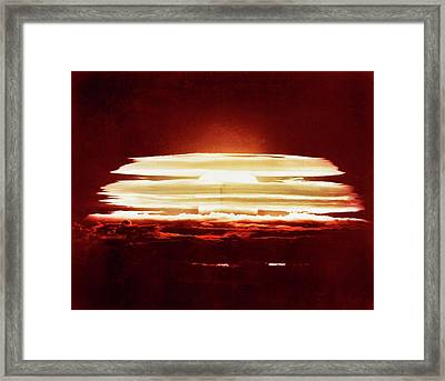 Bikini Atoll Nuclear Test Framed Print by Us Department Of Energy