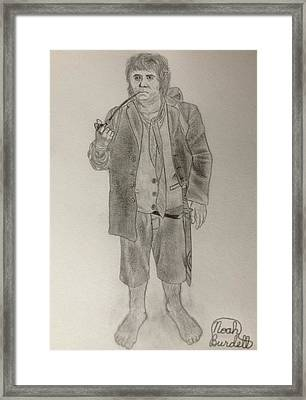 Bilbo Baggins Framed Print by Noah Burdett