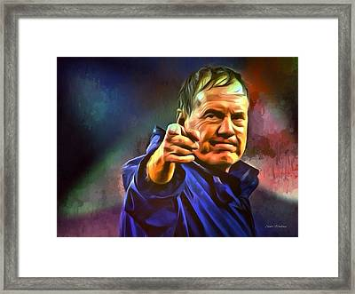 Bill Belichick Framed Print by Scott Wallace