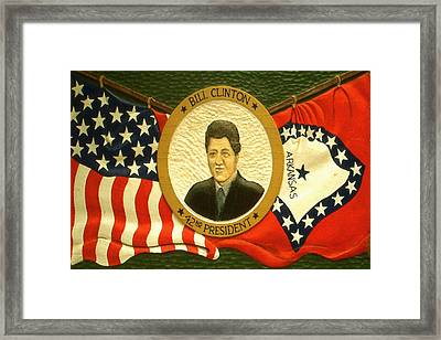 Bill Clinton 42nd American President Framed Print by Art America Online Gallery