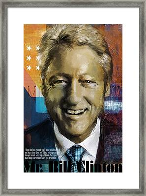 Bill Clinton Framed Print by Corporate Art Task Force