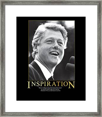 Bill Clinton Inspiration Framed Print by Retro Images Archive