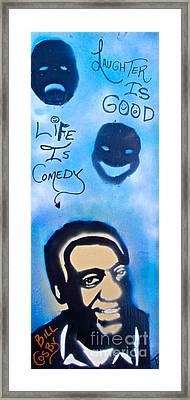 Bill Cosby Framed Print by Tony B Conscious