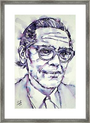Bill Evans Framed Print by Fabrizio Cassetta