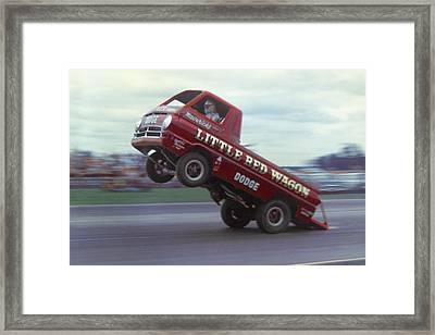 Bill Maverick Golden In The Little Red Wagon Framed Print by Mike McGlothlen