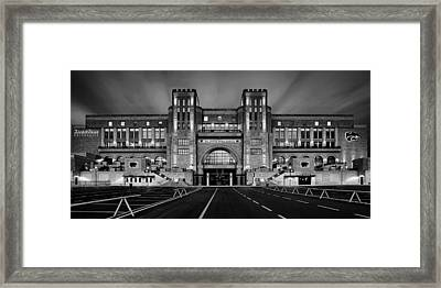 Bill Snyder Family Stadium - Bw Framed Print by Thomas Zimmerman