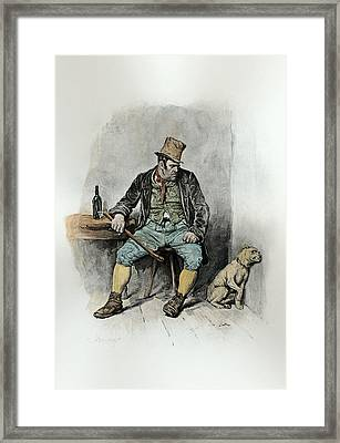 Bill Sykes And His Dog, From Charles Framed Print by Frederick Barnard