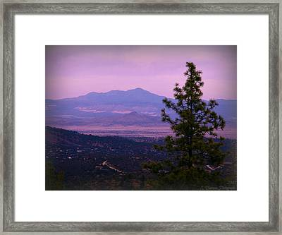 Bill Williams Over The Valley Framed Print by Aaron Burrows