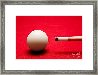 Billards Pool Game Framed Print by Michal Bednarek