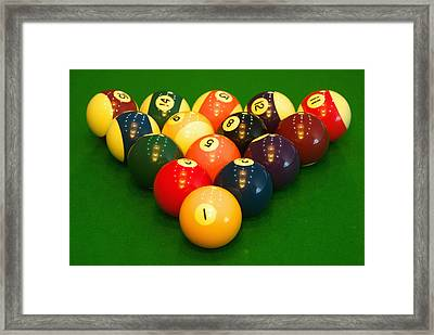 Billiard Game Balls Framed Print by Guang Ho Zhu