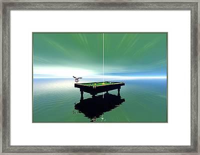 Billiard Table Framed Print by Harald Dastis
