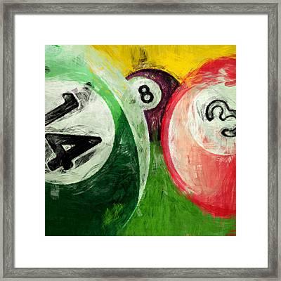 Billiards 14 3 8  Framed Print by David G Paul