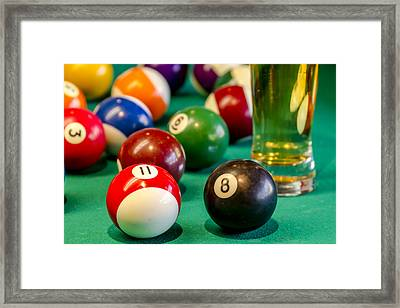 Billiards Anyone Framed Print by Teri Virbickis