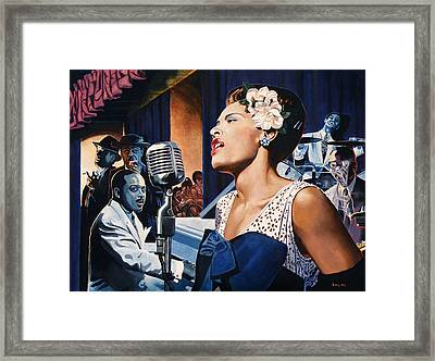 Billie Holiday - Lady Sings The Blues Framed Print by Jo King