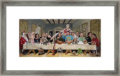 Bills Last Supper Framed Print by Tom Carlton