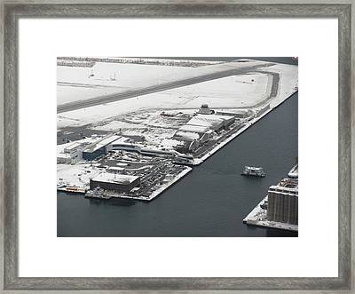 Billy Bishop Airport Framed Print by Carolyn Mortensen