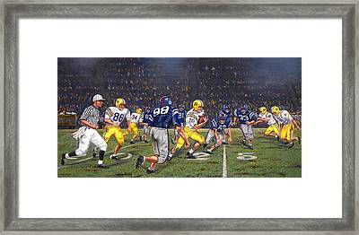 Billy Cannon's Halloween Heisman Haul Framed Print by Mike Roberts