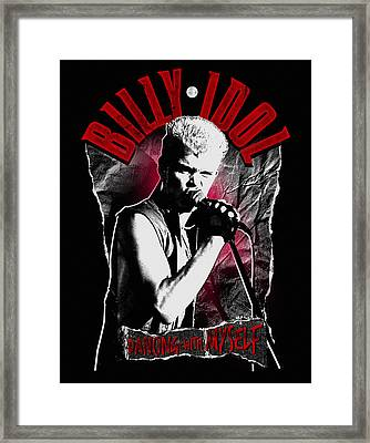 Billy Idol - Dancing With Myself Framed Print by Epic Rights