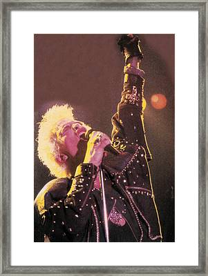 Billy Idol - Greatest Hits Inner Sleeve 2001 - Rebel Yell Framed Print by Epic Rights
