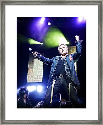 Billy Idol Live In Concert 1 Framed Print by The  Vault - Jennifer Rondinelli Reilly