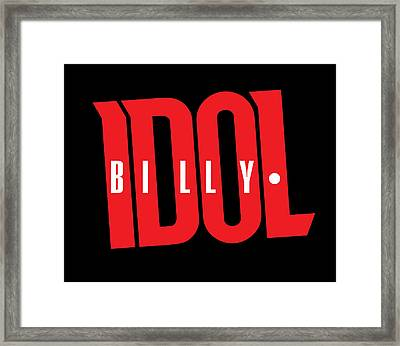Billy Idol - Logo Framed Print by Epic Rights