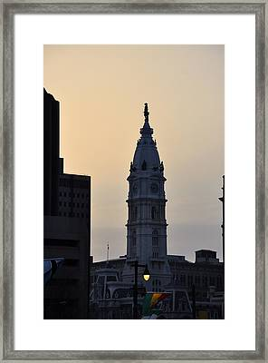 Billy Penn At Sunrise Framed Print by Bill Cannon