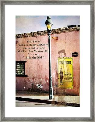 Billy The Kid Framed Print by Barbara Chichester